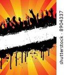 grunge crowd   Shutterstock .eps vector #8904337