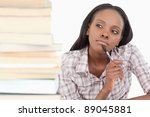 thoughtful student working... | Shutterstock . vector #89045881