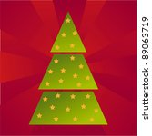 colorful christmas tree... | Shutterstock .eps vector #89063719