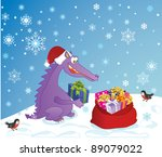 cute dragon  symbol 2012 year ... | Shutterstock .eps vector #89079022