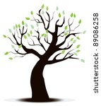vector tree with green leaves | Shutterstock .eps vector #89086258