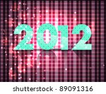 new year vector design   2012 | Shutterstock .eps vector #89091316