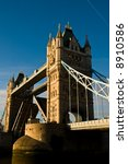 Landmark in London - Tower Bridge - stock photo