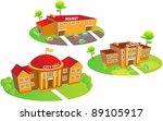 fun cartoon map elements  city... | Shutterstock .eps vector #89105917