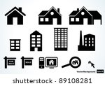 home icon set | Shutterstock .eps vector #89108281