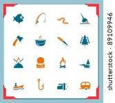 fishing icons | Shutterstock .eps vector #89109946
