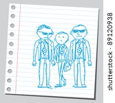 funny sketch of a two... | Shutterstock .eps vector #89120938