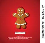 christmas greeting card | Shutterstock .eps vector #89123749