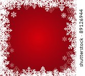 beautiful snowflakes frame.... | Shutterstock . vector #89126944
