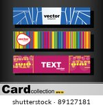 card collection with various... | Shutterstock .eps vector #89127181