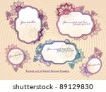 vector set of hand drawn floral ... | Shutterstock .eps vector #89129830