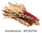 Indian corn bunch isolated on...