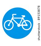 traffic sign   cycling route   Shutterstock . vector #89153878