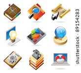 concept icons for business and... | Shutterstock . vector #89154283