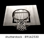 basketball hoop - stock photo