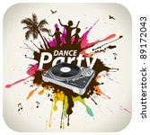 beach dance party | Shutterstock .eps vector #89172043