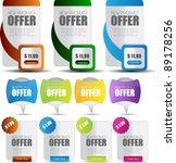 stylized banner set for web... | Shutterstock .eps vector #89178256