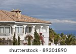Spanish luxury villa. Fragment - stock photo
