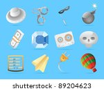 miscellaneous icons. raster... | Shutterstock . vector #89204623