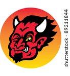 devil head | Shutterstock .eps vector #89211844