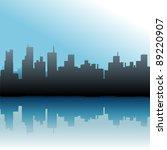 urban skyline of port city...   Shutterstock .eps vector #89220907