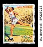 paraguay   circa 1983  a stamp... | Shutterstock . vector #89225215
