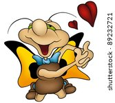 amorous butterfly   cartoon...   Shutterstock . vector #89232721