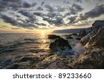 rocks and sea. dramatic scene.... | Shutterstock . vector #89233660