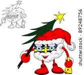 vector   present like santa... | Shutterstock .eps vector #89248756