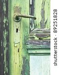 Old Door Color Green