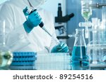 scientist working at the... | Shutterstock . vector #89254516