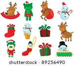 illustration of isolated set of ... | Shutterstock .eps vector #89256490