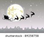 christmas vector background | Shutterstock .eps vector #89258758
