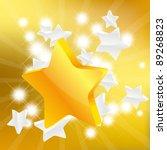 golden star on golden background | Shutterstock .eps vector #89268823