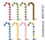 candy canes | Shutterstock .eps vector #89275717
