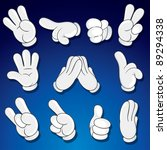 comics cartoon hands  gestures  ... | Shutterstock .eps vector #89294338