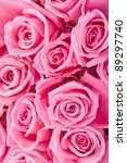Stock photo beautiful pink roses background bridal bouquet 89297740