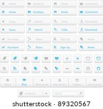 blue and white web buttons and... | Shutterstock .eps vector #89320567
