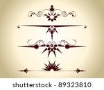 abstract  set of maroon color... | Shutterstock .eps vector #89323810