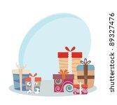 christmas gifts | Shutterstock .eps vector #89327476