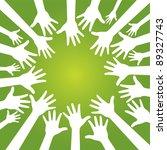 hands in team   Shutterstock .eps vector #89327743