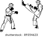 karate kyokushinkai sketch... | Shutterstock .eps vector #89354623