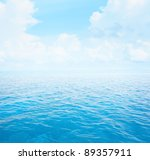 blue clear sea with waves and... | Shutterstock . vector #89357911