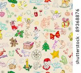 christmas rich pattern with... | Shutterstock .eps vector #89368876