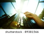 image of black laptop keyboard... | Shutterstock . vector #89381566