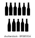 Wine Bottle Sign Set