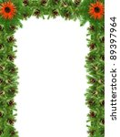 christmas green  framework... | Shutterstock . vector #89397964