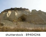 The Tertiary sea locality with sandstone - Sandberg near Bratislava - stock photo
