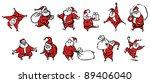 cartoon santa claus  icon set | Shutterstock .eps vector #89406040
