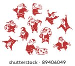 set happy santa claus | Shutterstock .eps vector #89406049